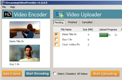 Desktop Encoder & Uploader App