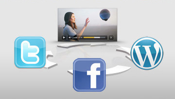 Streaming Video Player with Social Media Sharing
