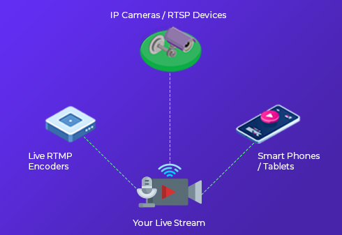 Live Streaming Platform Encoder IP Camera Mobile